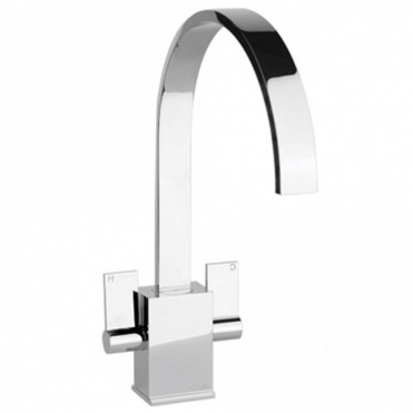 Abode Atik Gloss White Monobloc Kitchen Sink Mixer Tap AT1194