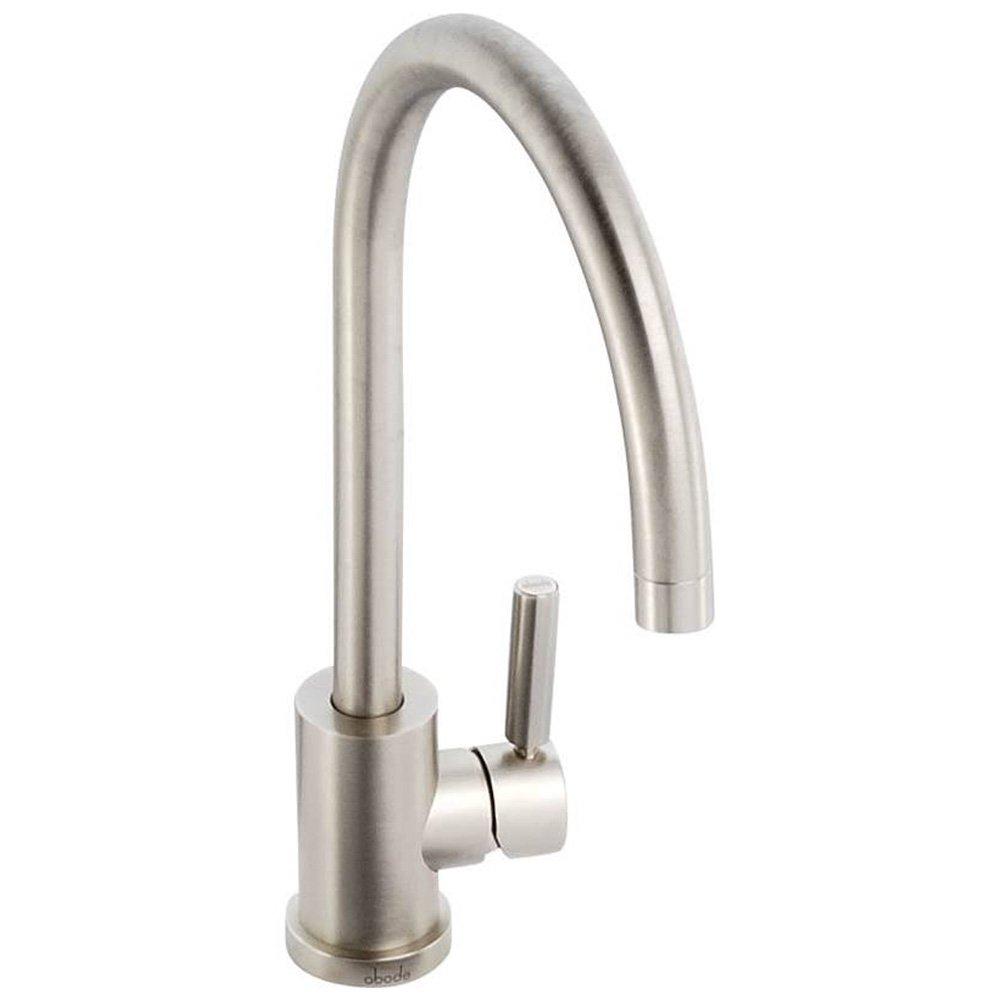 Abode Atlas Brushed Nickel Monobloc Kitchen Sink Mixer Tap AT - Kitchen sink taps uk