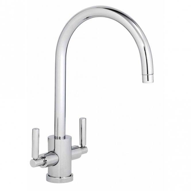 Abode Atlas Chrome Monobloc Twin Lever Kitchen Sink Mixer Tap AT1053 ...