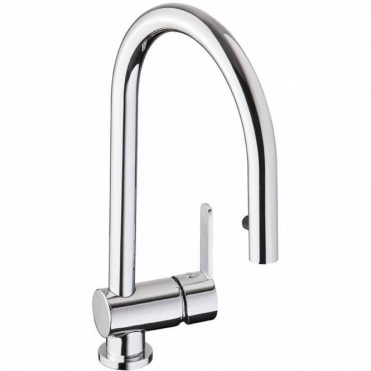 Abode Czar Chrome Pull Out Rinser Kitchen Sink Mixer Tap AT1240