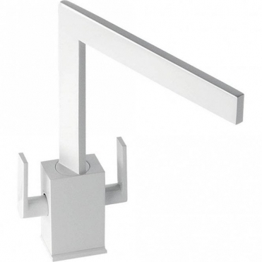 Abode Edge Gloss White Monobloc Kitchen Sink Mixer Tap AT1196