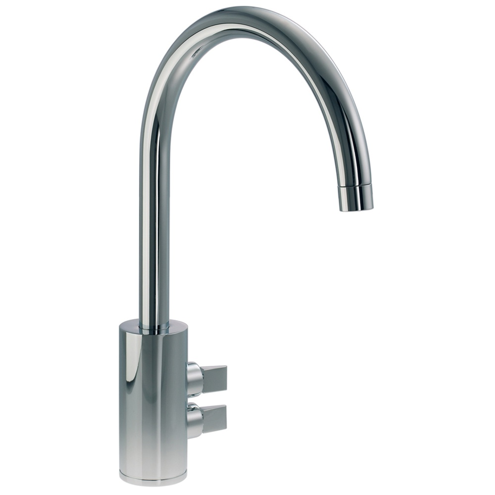 Abode Fliq Brushed Nickel Monobloc Kitchen Sink Mixer Tap