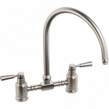 Abode Hargrave Bridge Brushed Nickel Kitchen Sink Mixer Tap AT1146