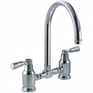 Abode Hargrave Bridge Chrome Kitchen Sink Mixer Tap AT1145