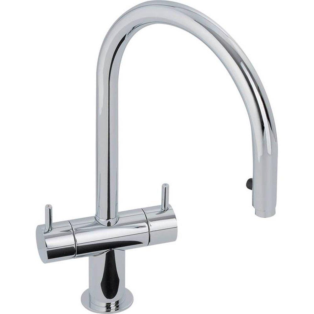 Abode Hesta Chrome Pull Out Rinser Kitchen Sink Mixer Tap AT - Kitchen sink taps uk