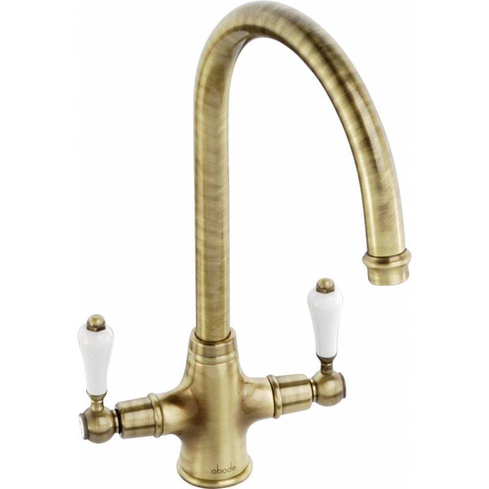 Abode Ludlow Antique Bronze Monobloc Kitchen Sink Mixer Tap AT - Kitchen sink taps uk