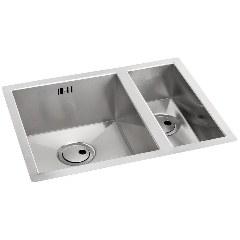 Abode Matrix R0 1.5 Bowl Brushed Stainless Steel Undermount Kitchen ...