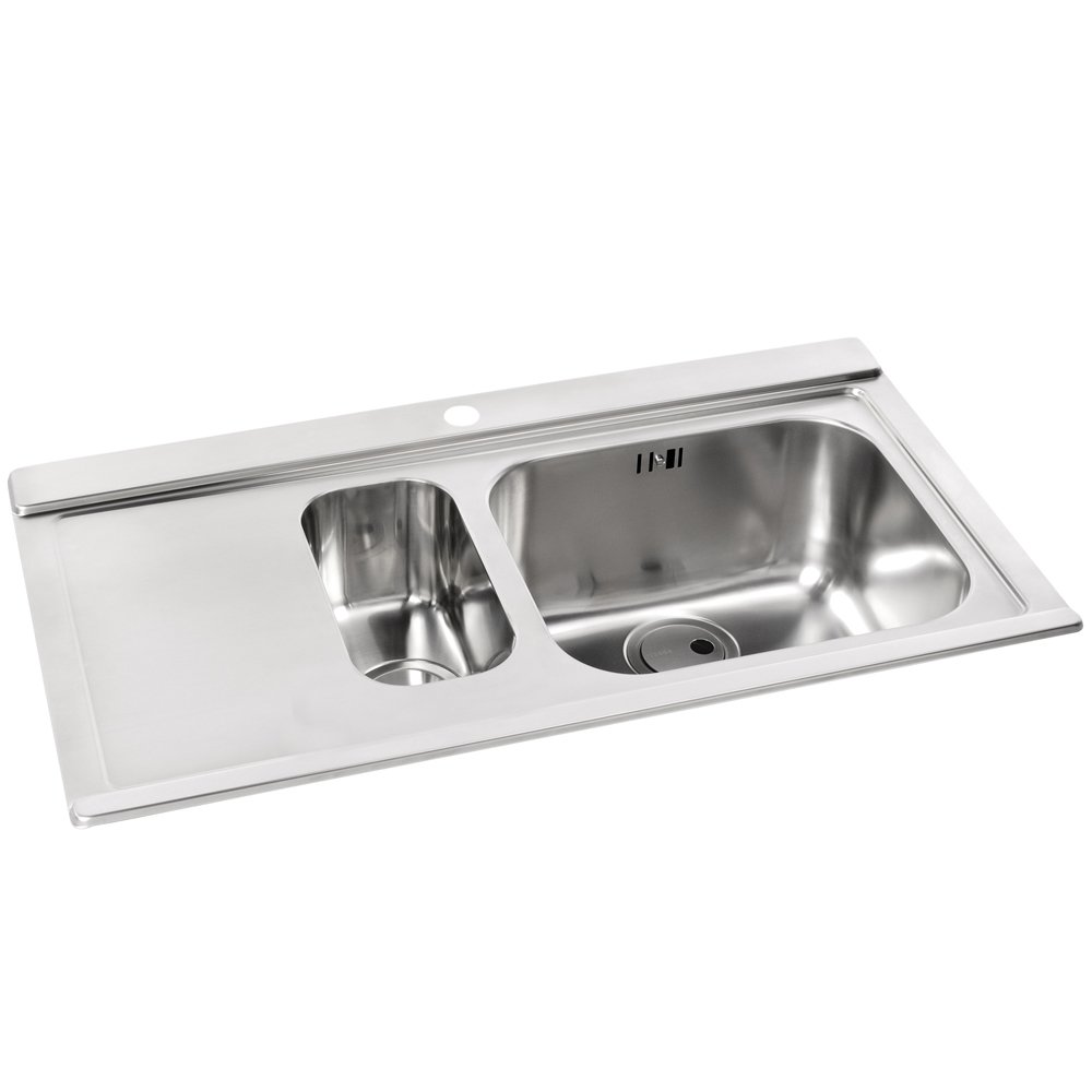 Brushed Stainless Steel Sinks Kitchen : view all abode view all 1 5 bowl sinks view all abode 1 5 bowl sinks