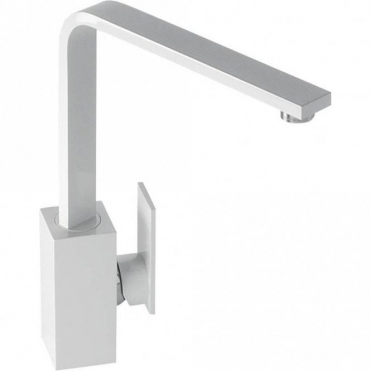 Abode New Media Gloss White Monobloc Kitchen Sink Mixer Tap AT1183