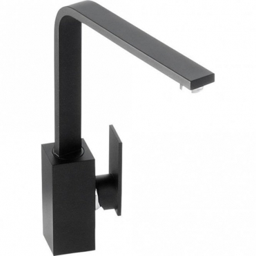 Abode New Media Matte Black Monobloc Kitchen Sink Mixer Tap AT1182