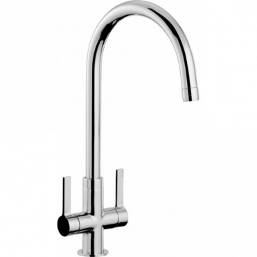 Abode Pico Chrome Twin Lever Kitchen Sink Mixer Tap AT1226
