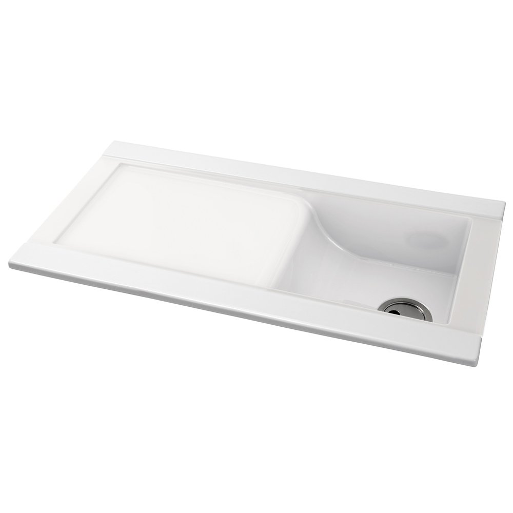 Ceramic Kitchen Sink With Drainer : ... Single Bowl Ceramic Sinks ? View All Abode Single Bowl Ceramic Sinks