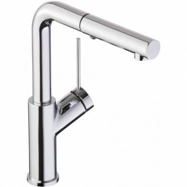 Abode Virtue Chrome Pull Out Rinser Kitchen Sink Mixer Tap AT1245