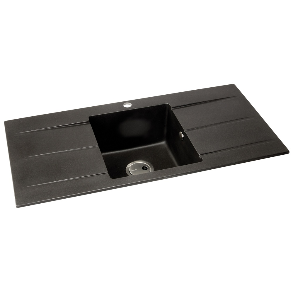 Black Double Sink Kitchen : ... Abode ? View All 1.0 Bowl Sinks ? View All Abode 1.0 Bowl Sinks