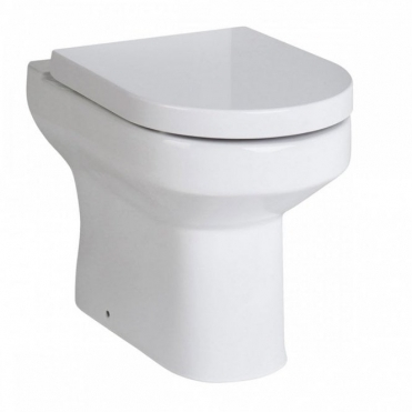 None Arte White Ceramic Back to Wall Toilet Inc Seat