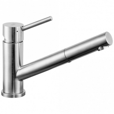 Astini Aldo Brushed Stainless Steel Pullout Rinser Kitchen Sink Mixer Tap HK70