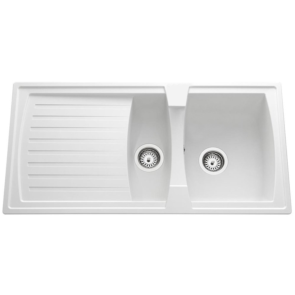 Astini Arturo 1.5 Bowl White Composite Synthetic Kitchen Sink ...