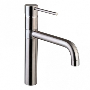 Astini Ascot Single Lever Brushed Steel Kitchen Sink Mixer Tap AK017