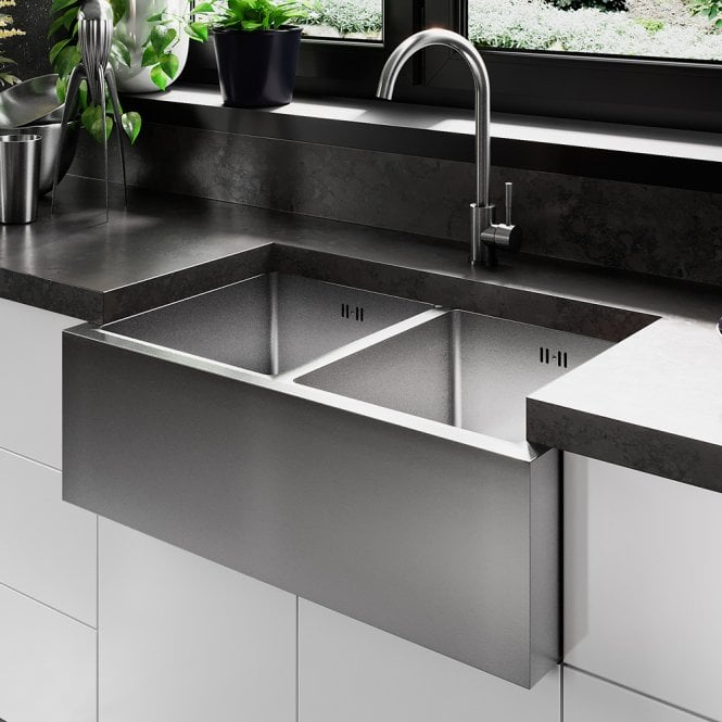 Brushed Stainless Steel Kitchen Sink