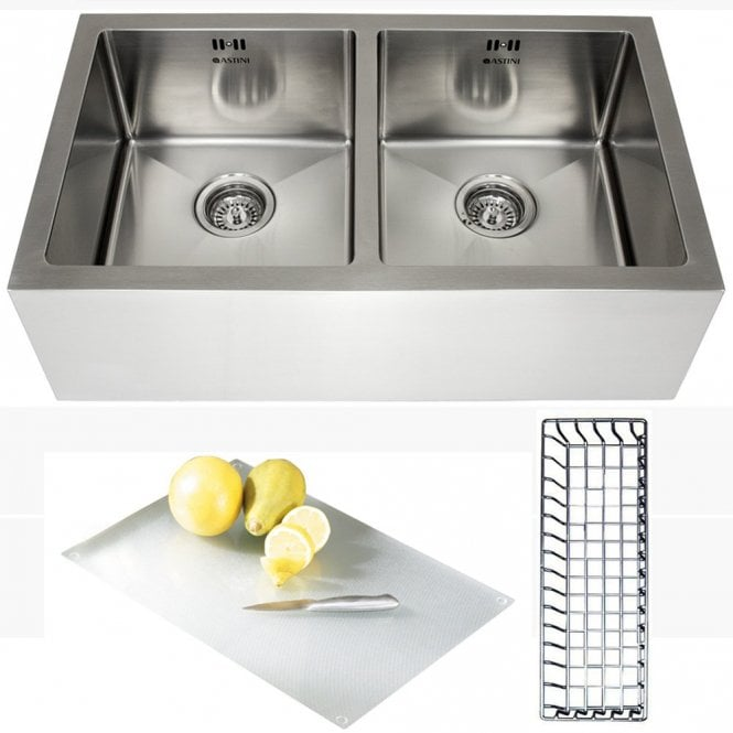 Astini belfast 800 20 bowl brushed stainless steel kitchen sink astini belfast 800 20 bowl brushed stainless steel kitchen sink accessories workwithnaturefo