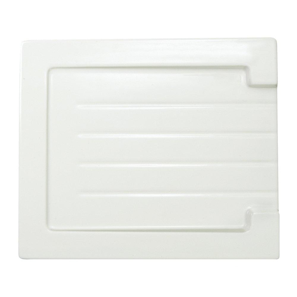 Astini Belfast Grooved White Ceramic Kitchen Sink Drainer
