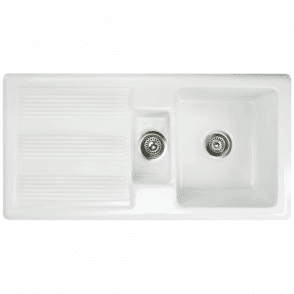 Astini Canterbury 150 1.5 Bowl Gloss White Ceramic Kitchen Sink & Waste