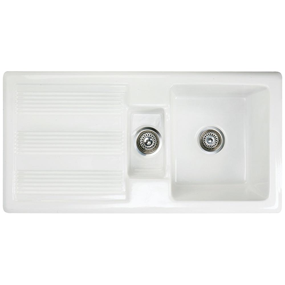 astini canterbury 150 1 5 bowl white ceramic kitchen sink