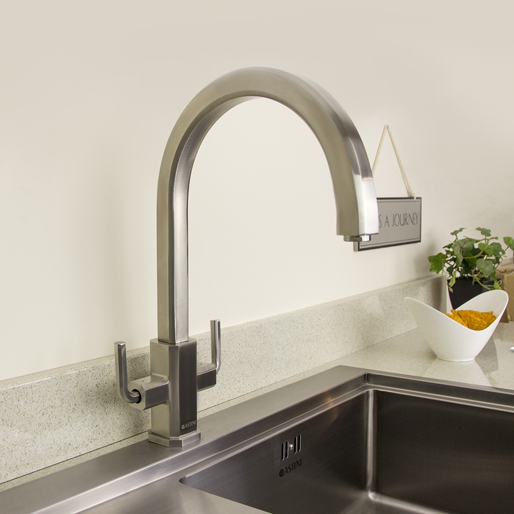 Twin Kitchen Sink : ... Steel Twin Handle Kitchen Sink Mixer Tap HK75 - Astini from TAPS UK