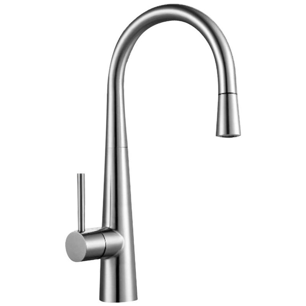 Astini Celino Brushed Stainless Steel Pullout Rinser Kitchen Sink - Kitchen sink taps uk