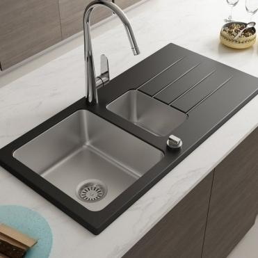 glass kitchen sinks double bowl kitchen sink glass bowl sink rh tapsuk com glass kitchen sinks ebay glass kitchen sinks and taps