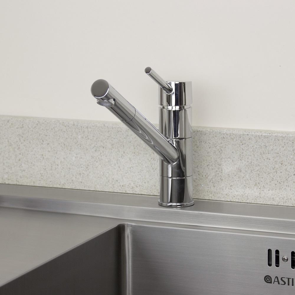 Astini Dallas Single Lever Chrome Kitchen Sink Mixer Tap HK31 - Astini ...