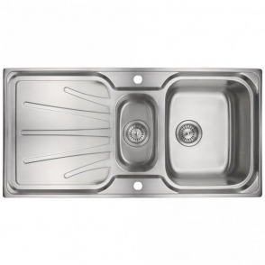 Astini Delta 1.5 Bowl Brushed Stainless Steel Kitchen Sink & Waste AS0039