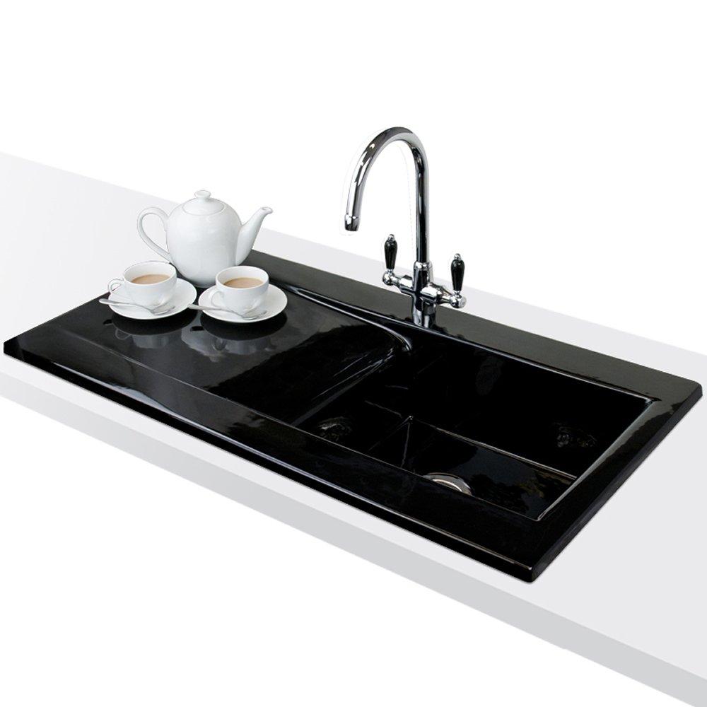 astini desire 100 1 0 bowl gloss black ceramic kitchen
