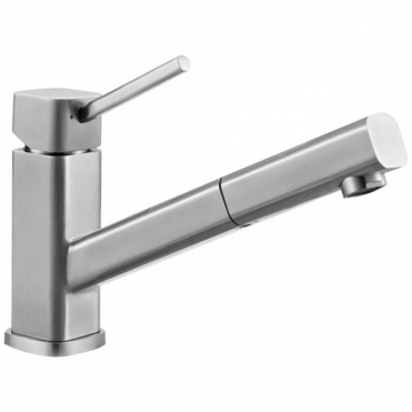 Astini Elmo Brushed Stainless Steel Pullout Rinser Kitchen Sink Mixer Tap HK79