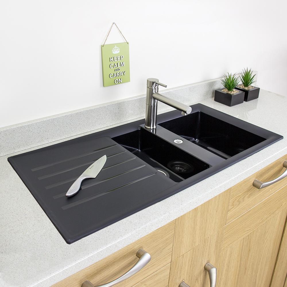 Composite black sink sink ideas composite granite sinks best sink 2018 top black undermount kitchen workwithnaturefo