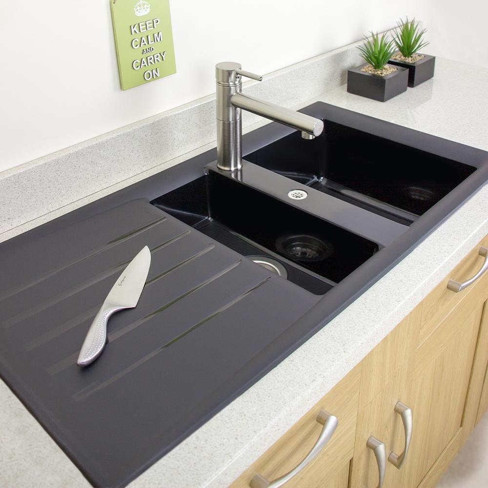 Astini Fiorello 1 5 Bowl Black posite Synthetic Kitchen