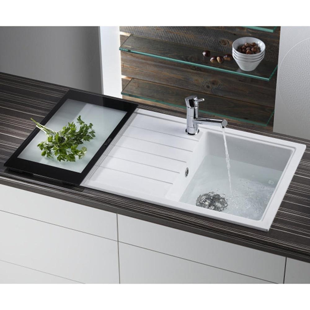 Granite Sinks Kitchen Astini Gianni Compact 10 Bowl Granite Snova White Kitchen Sink