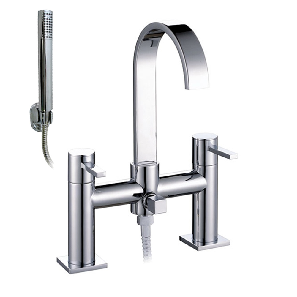 astini imex chrome swan neck bath shower mixer tap