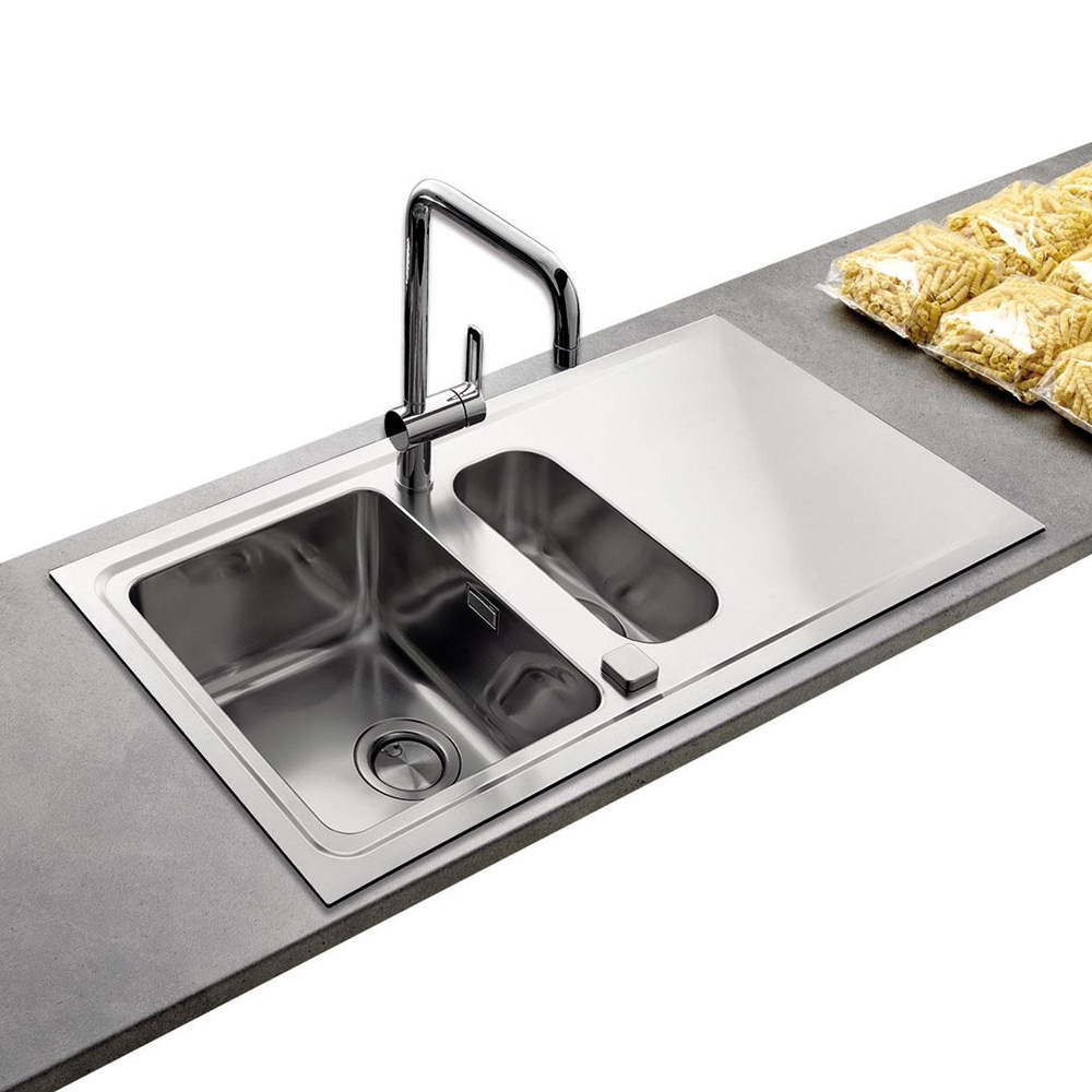 Brushed Stainless Steel Sinks Kitchen : ... Astini ? View All 1.5 Bowl Sinks ? View All Astini 1.5 Bowl Sinks