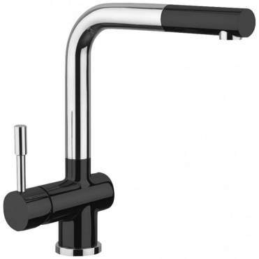 Astini Loris Brushed Stainless Steel & Black Pullout Rinser Kitchen Tap HK82