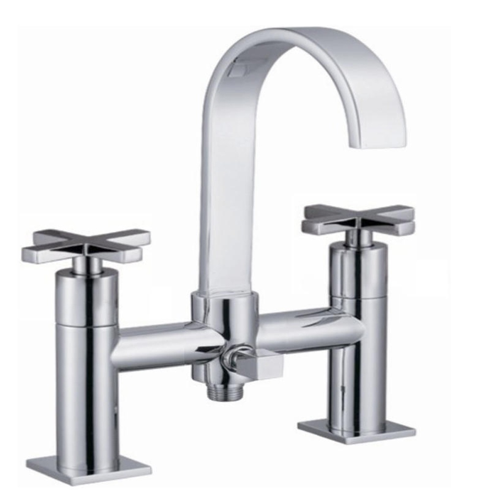 astini luna chrome swan neck bath shower mixer tap