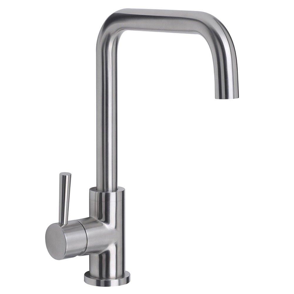 Astini Melo Brushed Steel Single Lever Kitchen Sink Mixer Tap - Kitchen sink taps uk