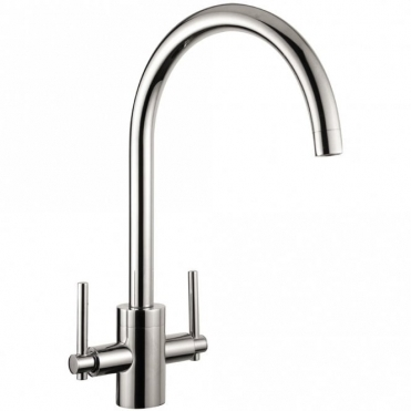 Astini Olympian Chrome Twin Lever Kitchen Sink Mixer Tap HK512