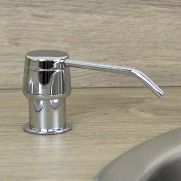 Astini Polished Chrome 270ml Integrated Kitchen Sink Soap Dispenser