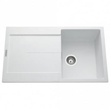 Astini Quadro XL 1.0 Bowl Granite Croma Grey Kitchen Sink /& Waste