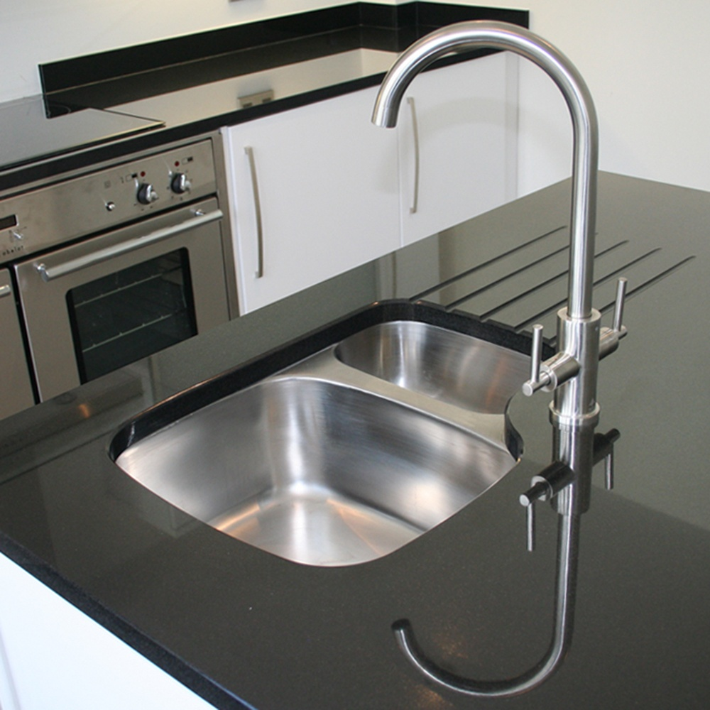 astini renzo 15 bowl brushed stainless steel undermount kitchen sink lhsb - Brushed Steel Kitchen Sinks