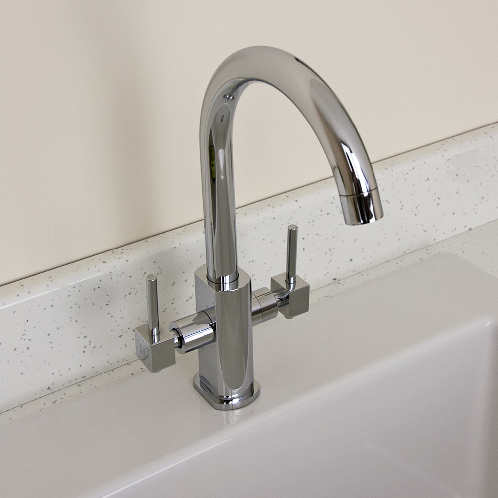 Kitchen Sink Spout : ... Double Handle Swivel Spout Kitchen Sink Mixer Tap 1335F - from TAPS UK