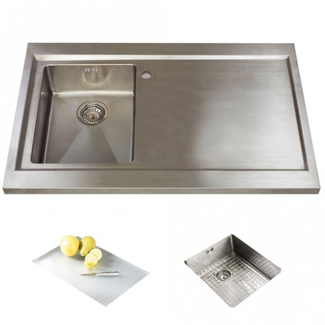 Astracast Bistro 1 0 Bowl Brushed Stainless Steel Kitchen Sink Rhd Accs