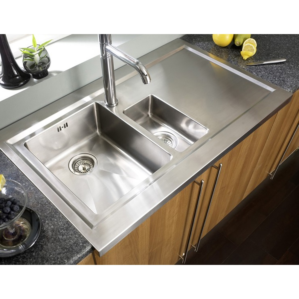 bistro 1 5 bowl brushed stainless steel kitchen sink accessories rhd