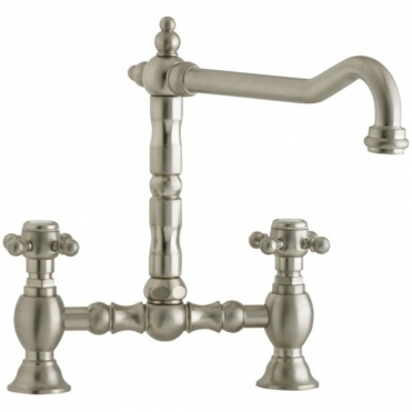 Astracast Camargue Bridge Nickel Kitchen Sink Mixer Tap TP0039